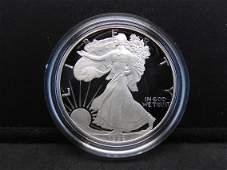 1992 S Proof American Silver Eagle 999 Fine Silver 1