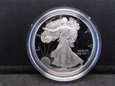 1993 P S Proof American Silver Eagle 999 Fine Silver