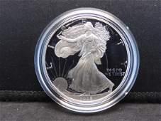 1995 P S Proof American Silver Eagle 999 Fine Silver