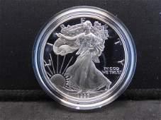 1997 P S Proof American Silver Eagle 999 Fine Silver