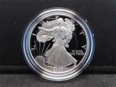 2000 P S Proof American Silver Eagle 999 Fine Silver