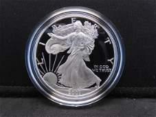 2001 W Proof American Silver Eagle 999 Fine Silver 1