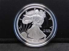 2002 W Proof American Silver Eagle 999 Fine Silver 1
