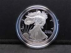 2004 W Proof American Silver Eagle 999 Fine Silver 1