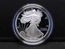 2005 W  Proof American Silver Eagle 999 Fine Silver