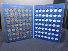 19441962 Lincoln Cent 49 Coin Set Housed in Whitman