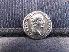 1337 AD Tiberius Ancient Roman Silver Coin  Dime