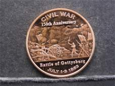 One Ounce 999 Fine Copper 150th Anniversary Battle of