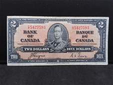 Very Fine 1937 Canadian CoyneTowers 2 Bank Note