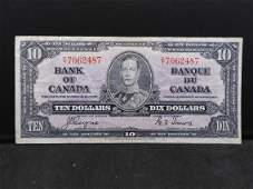 Very Fine 1937 Canadian CoyneTowers 10 Bank Note