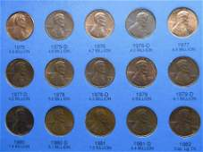Whitman Lincoln Cent Folder w90 Coins Complete set