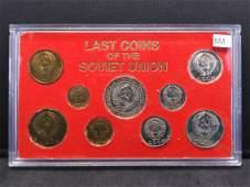 1976 Last Coins of the Soviet Union Set.
