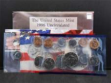 1996 United States 11 Coin Mint Set, Includes the