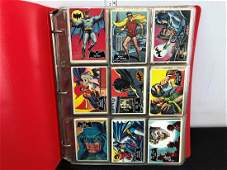 1966 Topps Batman Cards in Album - Complete 55 Card
