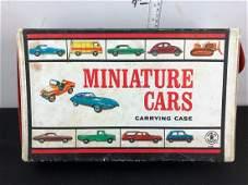1966 Mattel Toy Car Case with 26 vintage Matchbox