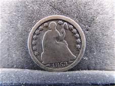 1853 Seated Liberty Half Dime w/Arrows