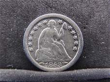 1853 Seated Liberty Half Dime w/arrows.