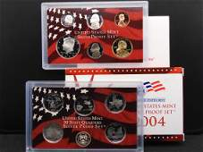 2004-S Silver US Proof Set. Regular Coinage plus State