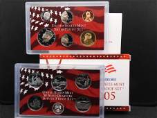 2005-S Silver US Proof Set. Regular Coinage plus State