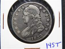 Beautiful 1833 Capped Bust Half Dollar