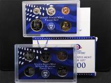 2000-S US Proof Set. Regular coins plus state