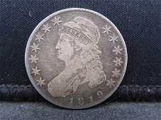 1819 United States Draped Bust Half Dollar.