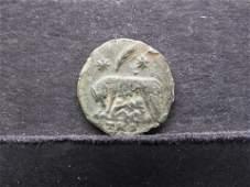 """Ancient Roman Coin. 330-346 AD. """"Urbs Roma""""."""