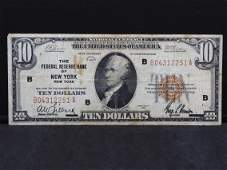 Series 1929 U.S. National Currency $10 Note Federal