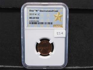 2019-W- NGC MS69 Lincoln Cent. First Unc. West Point