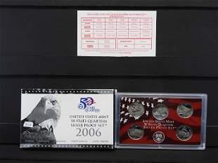 2006 Silver Proof Quarter Set. You get all 5- 90