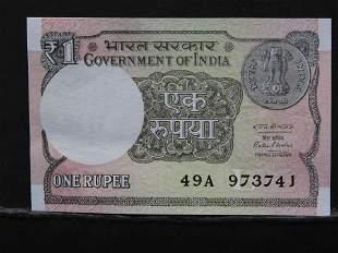 2016 India, 1 Rupee Bank Note