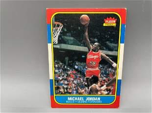 1986-87 Fleer Michael Jordan #57 Rookie HOF - Iconic