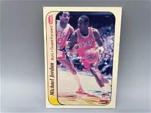 1986-87 Fleer Sticker Michael Jordan #8 HOF
