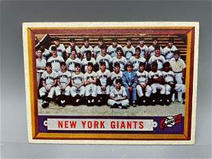 1957 Topps New York Giants #317 Tough Hi Number