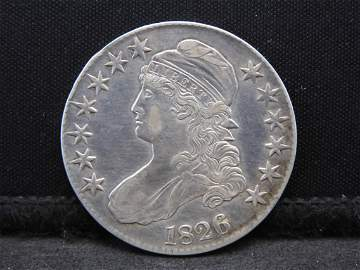 1826 Capped Bust Half Dollar - Awesome Details & Flash!