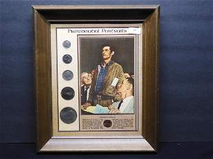 Presidential Portraits Collection Framed - 6 Coin Set
