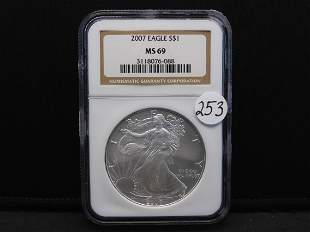 2007 NGC MS69 American Silver Eagle