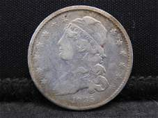1835 Capped Bust Silver Quarter - Sm. Size - Scarce