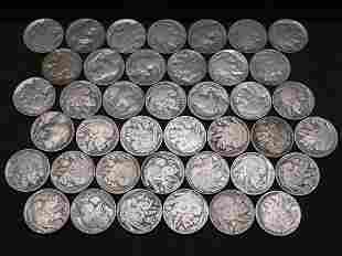 (40) Full Date Buffalo Nickels.  No Junk.
