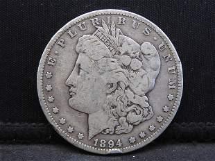 1894-S Morgan Silver Dollar.  **SELDOM SEEN DATE**