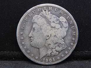 1904-S Morgan Silver Dollar.  **RARELY SEEN DATE**