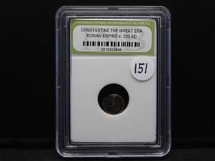 Constantine the Great Era Ancient Roman Bronze Coin