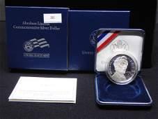 2009 Abraham Lincoln Commem Proof Silver Dollar OGP