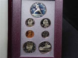 1992 U.S. Olympic Prestige 7 Coin Proof Set OGP