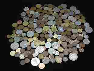 Mixed Lot of Foreign Coins.  Weighs 2 Pounds.