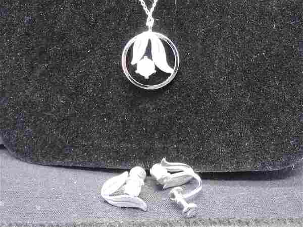 """Vintage Van Dell Sterling Silver Stamped 18"""" Necklace"""