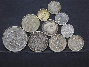 10 Silver Foreign Coins.