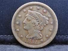 1851 Braided Hair Large Cent.