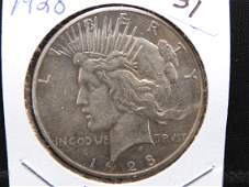1928 Peace Dollar. Key to the set. Great luster and a