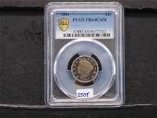PCGS Graded PR64CAM 1884 Proof Liberty Nickel